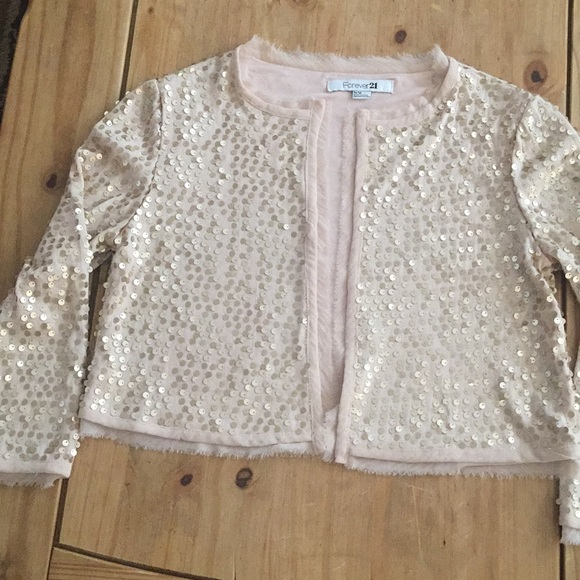 Forever 21 Sweaters - Forever 21 sequined crop cardigan top
